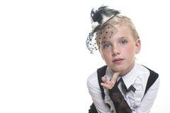 Dziewczyna w retro odzieży Obrazy Royalty Free