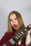Dziewczyna w rockowym stylu zdjęcie stock