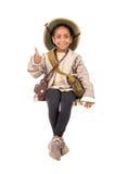 Dziewczyna w safari kostiumu Obraz Stock