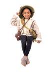Dziewczyna w safari kostiumu Obraz Royalty Free