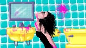 Dziewczyna w skąpaniu Obrazy Royalty Free
