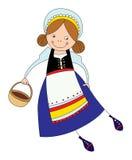 Dziewczyna w Skandynawskim kostiumu Zdjęcia Royalty Free