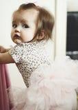 Dziewczyna w spódniczce baletnicy Obrazy Royalty Free
