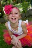 Dziewczyna w spódniczce baletnicy. Zdjęcie Royalty Free