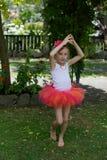 Dziewczyna w spódniczce baletnicy. Fotografia Royalty Free