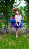Dziewczyna w spódniczce baletnicy. Zdjęcia Royalty Free