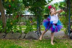 Dziewczyna w spódniczce baletnicy. Obraz Stock