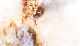 Dziewczyna w sporcie ilustracja Obraz Royalty Free