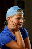 Dziewczyna w sport nakrętce Zdjęcia Royalty Free