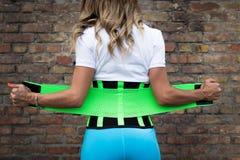 Dziewczyna w sportswear z gorsecikiem Zdjęcie Stock