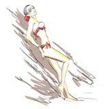Dziewczyna w swimsuit Obraz Stock