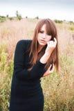 dziewczyna w terenie Fotografia Stock