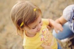 dziewczyna w terenie Fotografia Royalty Free
