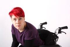 Dziewczyna w wózek inwalidzki Fotografia Royalty Free