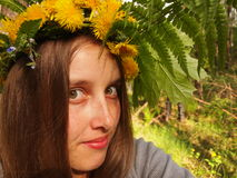 Dziewczyna w wianku Zdjęcie Stock