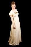Dziewczyna w wiktoriański sukni Zdjęcie Royalty Free