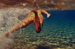 Dziewczyna w wodzie Zdjęcia Royalty Free