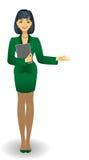 Dziewczyna w zielonym kostiumu Zdjęcia Stock