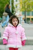 Dziewczyna w zima parku Zdjęcie Stock