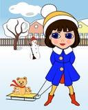 Dziewczyna w zimie Zdjęcie Royalty Free
