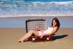 dziewczyna wakacje Zdjęcia Royalty Free