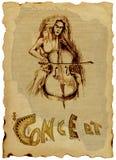dziewczyna wiolonczelowy ruch punków royalty ilustracja