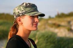 dziewczyna wojskowy Obrazy Royalty Free