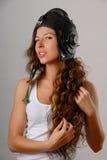 dziewczyna wojskowy uniform Fotografia Royalty Free