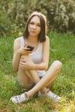 Dziewczyna wybiera numer liczbę Zdjęcie Stock