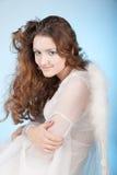 Dziewczyna z śnieżnym makijażem Fotografia Stock