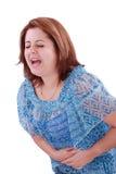 Dziewczyna z żołądek obolałością Zdjęcia Royalty Free