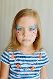 Dziewczyna z aqua makeup Zdjęcia Stock