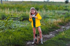 Dziewczyna z arbuzem Obraz Stock