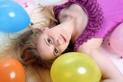 Dziewczyna z balonami fotografia royalty free