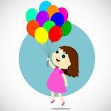 Dziewczyna z balonami Fotografia Stock