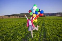 Dziewczyna z balonami Obrazy Stock