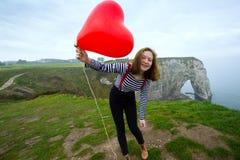Dziewczyna z balonem obraz royalty free