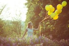 Dziewczyna z baloons Obraz Stock