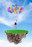 Dziewczyna z baloons Zdjęcie Stock