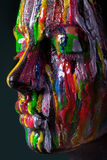 Dziewczyna z barwioną twarzą malującą Sztuki piękna wizerunek Obrazy Royalty Free