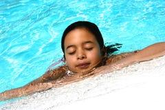 dziewczyna z basenu zdjęcie stock