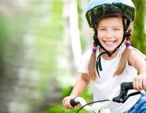 Dziewczyna z bicyklem Fotografia Stock