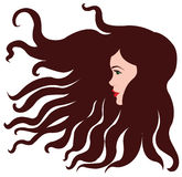 Dziewczyna z brown włosy Zdjęcia Royalty Free