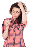 Dziewczyna z ciążowym testem zdjęcie royalty free