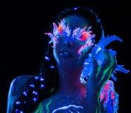 Dziewczyna z ciało sztuką Zdjęcia Royalty Free