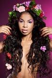 Dziewczyna z circlet kwiaty Zdjęcie Stock