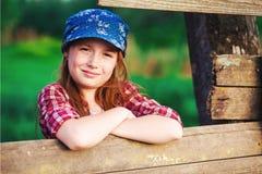 Dziewczyna z corral Zdjęcie Stock