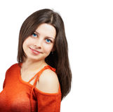 Dziewczyna z czerwonym wierzchołkiem Zdjęcia Stock