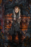 Dziewczyna z dreadlocks obrazy royalty free