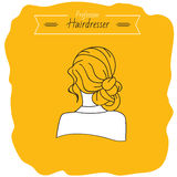 Dziewczyna z fryzurą Fotografia Stock
